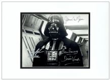 Darth Vader Autograph Signed Photo - Dave Prowse, James Earl Jones & Jake Lloyd